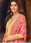 Artistic Cotton Silk Stone Work Churidar Salwar Suit - 1