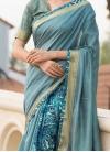 Artistic Print Traditional Saree - 1