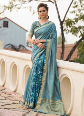 Artistic Print Traditional Saree