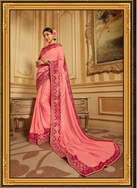Aspiring Art Silk Embroidered Designer Traditional Saree