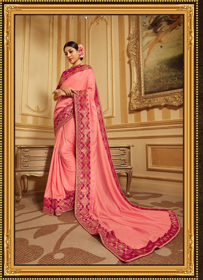 Aspiring Art Silk Embroidered Designer Traditional Saree