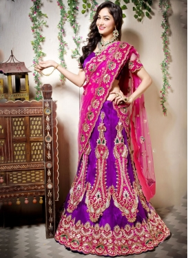 Astonishing Art Silk Wedding Designer Lehenga Choli