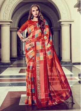 Astounding Art Silk Ceremonial Trendy Saree
