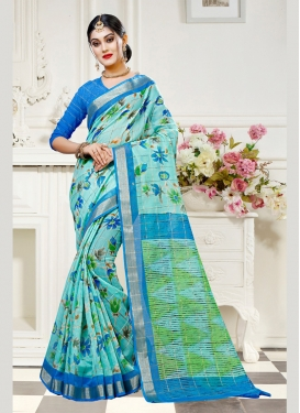 Attractive Abstract Print Multi Colour Traditional Saree