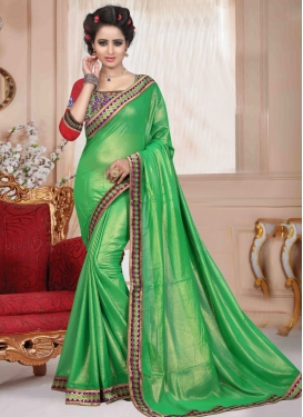 Awesome Mint Green Color Casual Saree