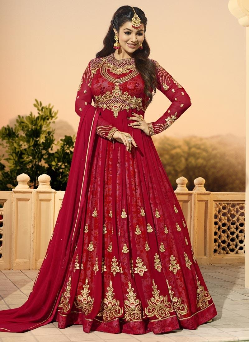 Ayesha Takia Digital Print Work Long Length Designer Anarkali Suit