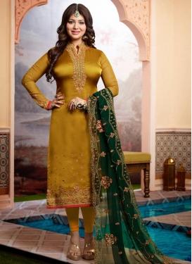 Ayesha Takia Satin Georgette Pakistani Straight Salwar Suit
