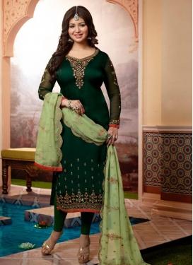 Ayesha Takia Satin Georgette Straight Pakistani Salwar Kameez