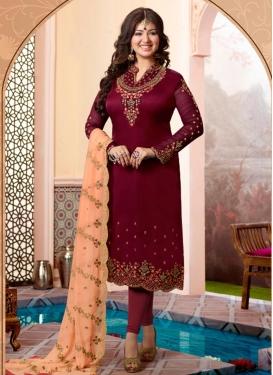 Ayesha Takia Satin Georgette Trendy Pakistani Salwar Suit