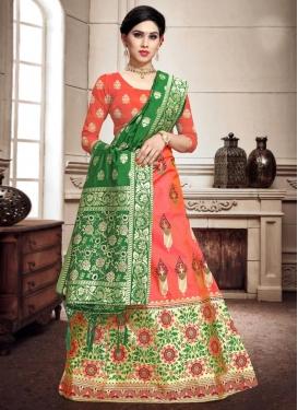 Banarasi Silk A - Line Lehenga For Ceremonial