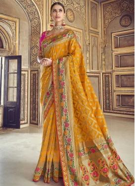 Banarasi Silk Beads Work Classic Saree