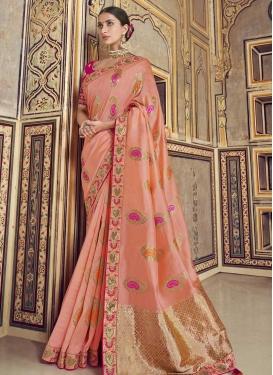 Banarasi Silk Beads Work Trendy Classic Saree