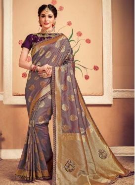 Banarasi Silk Booti Work Traditional Designer Saree