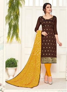 Banarasi Silk Churidar Salwar Kameez