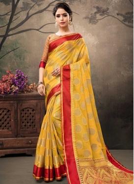 Banarasi Silk Contemporary Style Saree