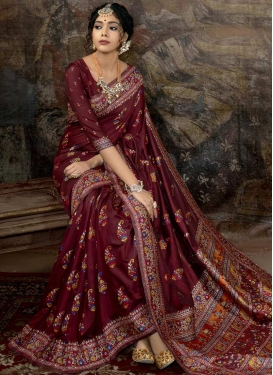 Banarasi Silk Contemporary Style Saree For Party