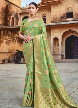 Banarasi Silk Designer Contemporary Style Saree For Bridal