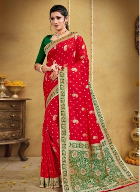 Banarasi Silk Designer Contemporary Style Saree For Ceremonial