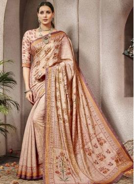 Banarasi Silk Digital Print Work Traditional Saree