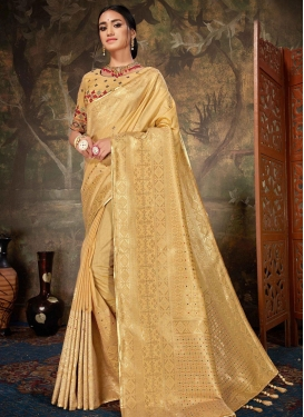 Banarasi Silk Embroidered Work Traditional Designer Saree