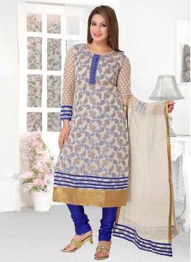 Banarasi Silk Readymade Churidar Salwar Suit