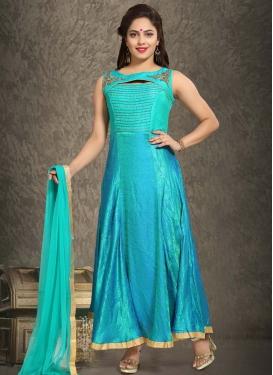 Banarasi Silk Readymade Designer Gown