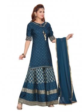 Banarasi Silk Readymade Designer Suit