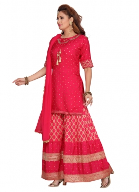 Banarasi Silk Resham Work Readymade Designer Salwar Suit