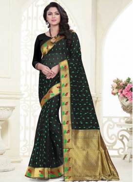 Banarasi Silk Thread Work Traditional Saree