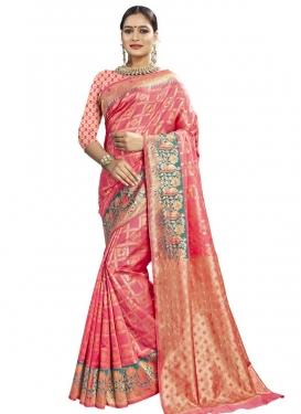 Banarasi Silk Thread Work Trendy Classic Saree