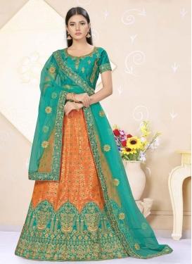 Banarasi Silk Trendy A Line Lehenga Choli