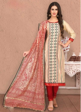 Banarasi Silk Trendy Churidar Suit