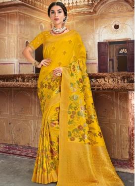 Banarasi Silk Trendy Classic Saree For Festival