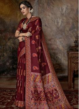 Banarasi Silk Trendy Classic Saree For Party