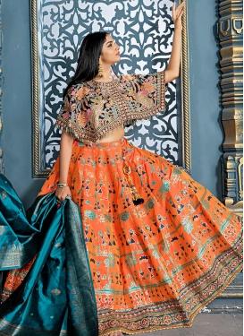 Banarasi Silk Trendy Lehenga For Festival