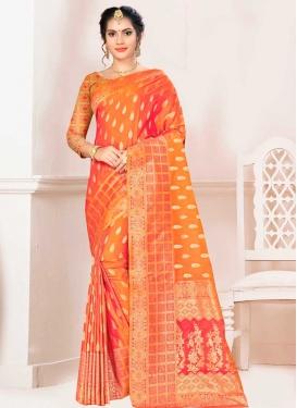 Banarasi Silk Trendy Saree For Festival