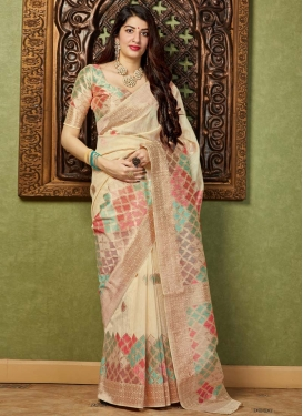 Banarasi Silk Woven Work Designer Contemporary Saree
