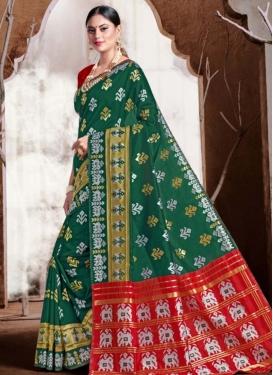 Banarasi Silk Woven Work Designer Contemporary Style Saree
