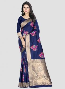 Banarasi Silk Woven Work Designer Traditional Saree