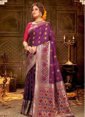 Banarasi Silk Woven Work Traditional Designer Saree
