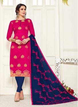 Banarasi Silk Woven Work Trendy Churidar Salwar Kameez