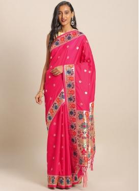 Banarasi Silk Woven Work Trendy Classic Saree