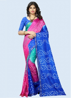 Bandhej Print Work Designer Contemporary Saree