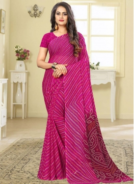Bandhej Print Work Designer Traditional Saree