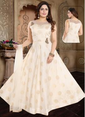 Banglori Silk Cutdana Work Readymade Classic Gown