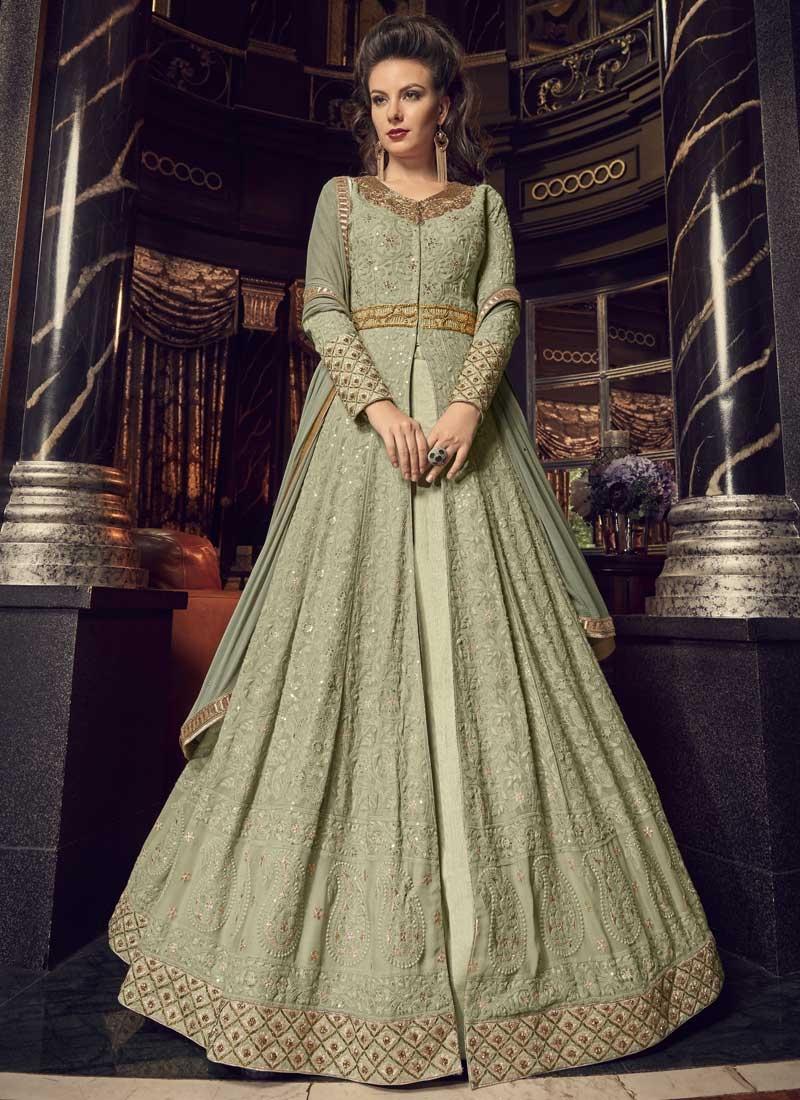 Banglori Silk Designer Kameez Style Lehenga For Festival