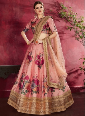 Banglori Silk Digital Print Work Lehenga Choli