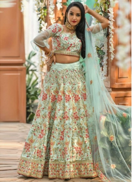 Beads Work Art Silk Trendy Lehenga Choli