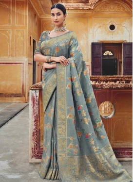 Beads Work Classic Designer Saree