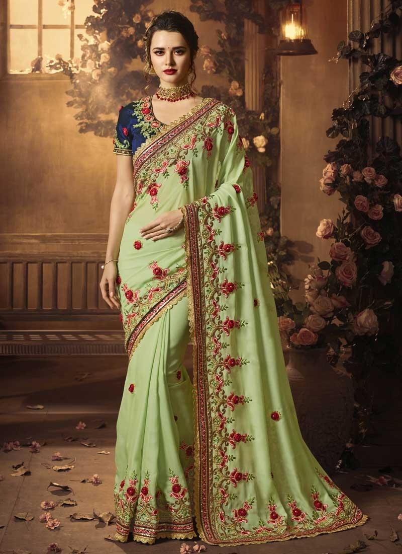 Beads Work Classic Saree